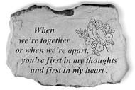 When We're Together Garden Stone