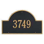 Arch Address Plaque 24L x 14H (1 Line)
