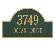 Arch Address Plaque 24L x 14H (2 Lines)