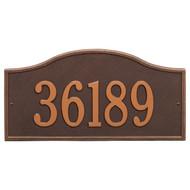 "Rolling Hills Grand Address Plaque 18""W x 9""H (1 Line)"