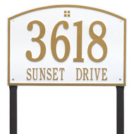 "Cape Charles Address Lawn Plaque 20.5""W x 14""H (2 Lines) - 7"" High Numbers"