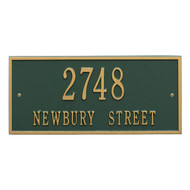 "Hartford Address Plaque 16""L x 7.25""H (2 Lines)"