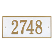 Hartford Address Plaque 16L x 7.25H (1Line)