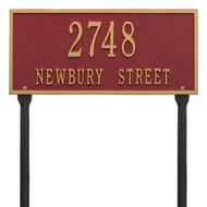 "Hartford Address Lawn Plaque 16""W x 7.25""H (2 Lines)"