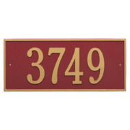 "Hartford Address Plaque 23.25""W x 10""H (1 Line) - 7"" High Numbers"