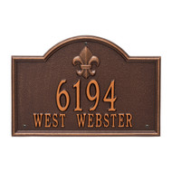 "Bayou Vista Address Plaque 15""Wx10""H (2 Lines)"