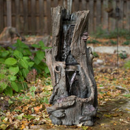 "Wood Water Fall Fountain 36""H"