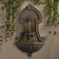 "Muro Elegante Copper Finish Wall Fountain 33""H"