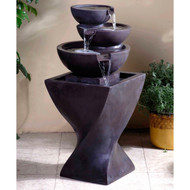 "Modern Tier Bowls Indoor Water Fountain 33""H"