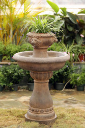 "Multi-Tier Lion Head Garden Water Fountain 42""H"