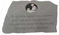 The Golden Gates Stood Open...Photo Memorial Stone