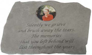 Silently we grieve...Photo Memorial Stone