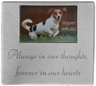 Always in our thoughts...Personalized Photo Memorial Marker