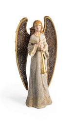 Angel with Horn and Mosaic Wings