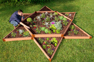 "Tool-Free Classic Raised Garden Bed Garden Star 12' x 12' x 11""  (2"" profile) Sienna"