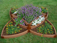 "1"" Series Frame It All Versailles Sunburst Raised Bed Kit (96"" x 96"" x 16.5"")"