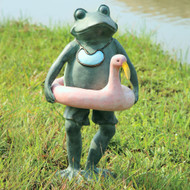 "Beach Buddy Frog Sculpture 20""H"