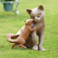 """Stealing a Kiss Garden Sculpture 11""""H"""