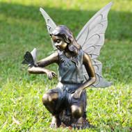 "Grace Fairy Garden Sculpture with Butterfly 25""H"