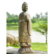 "Meditating Buddha Garden Sculpture 27""H"