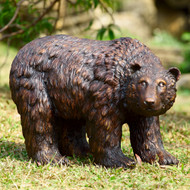 "Rust Finish Garden Bear Sculpture 25""L"