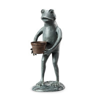 "Helpful Garden Frog Planter Holder 20""H"