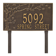 "Spring Blossom Estate Lawn Address Plaque 20""W x 12""H (2 Lines)"