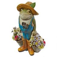 "Buckets the Garden Frog Statue 18""H"