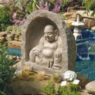 "Great Buddha Sanctuary Garden Statue 21""H"