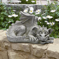 "Blushing Babel, The Bashful Dragon Statue 9""H"