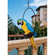 "Polly in Paradise Parrot Hanging Statue 18""H"