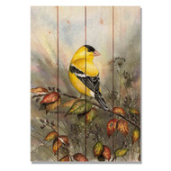 "Backyard Gold Bird Wall Art 14"" x 20"""