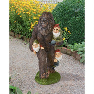 "Schlepping Garden Gnomes Bigfoot Garden Statue 16""H"