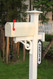Lifestyle Photo Shown with Vertical Mailbox Mount (Mailbox and Post NOT INCLUDED)