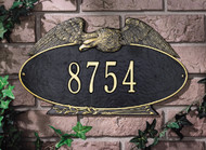 "Oval Eagle Standard Wall Address Plaque 16""W x 9.25""H (1 Line)"