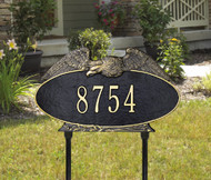 "Oval Eagle Standard Lawn Address Plaque 16""W x 9.25""H (1 Line)"