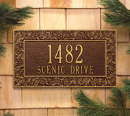 "Oakleaf Standard Wall Address Plaque 16""W x 9""H (2 Lines)"