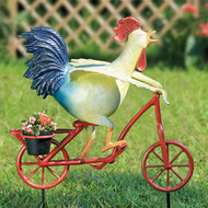 "Speedy Chicken Aluminum Garden Planter 28""H"