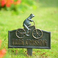 "Frog Crossing Garden Sign 16""H"