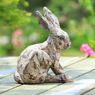 "Scratching Rabbit  Garden Sculpture 11""H"
