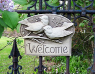 """Berrybirds Welcome Plaque 9""""W"""