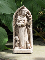 "St. Francis Blesses the Animals Statue 9""H"