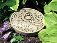 "1 Line Engraved Floral Pet Memorial 6.75""W"