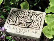 "2 Lines Engraved Wild Orchid Memorial Plaque 9.25""W"