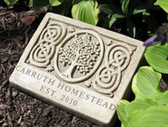 "2 Lines Engraved Celtic Tree Memorial Plaque 9.25""W"