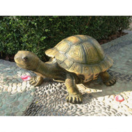 "The Tranquil Tortoise Garden Sculpture 29""W"