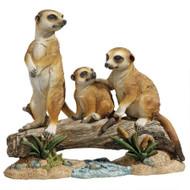 """The Meerkat Clan Garden Statue 15""""W"""