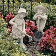 "Young Gardeners Sculptures 23""H"