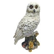 "Mystical White Owl Statue 14.5""H"