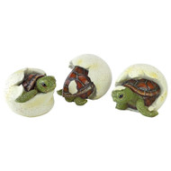 "Out of the Shell Baby Turtle Triplet Statues 2.5""H"